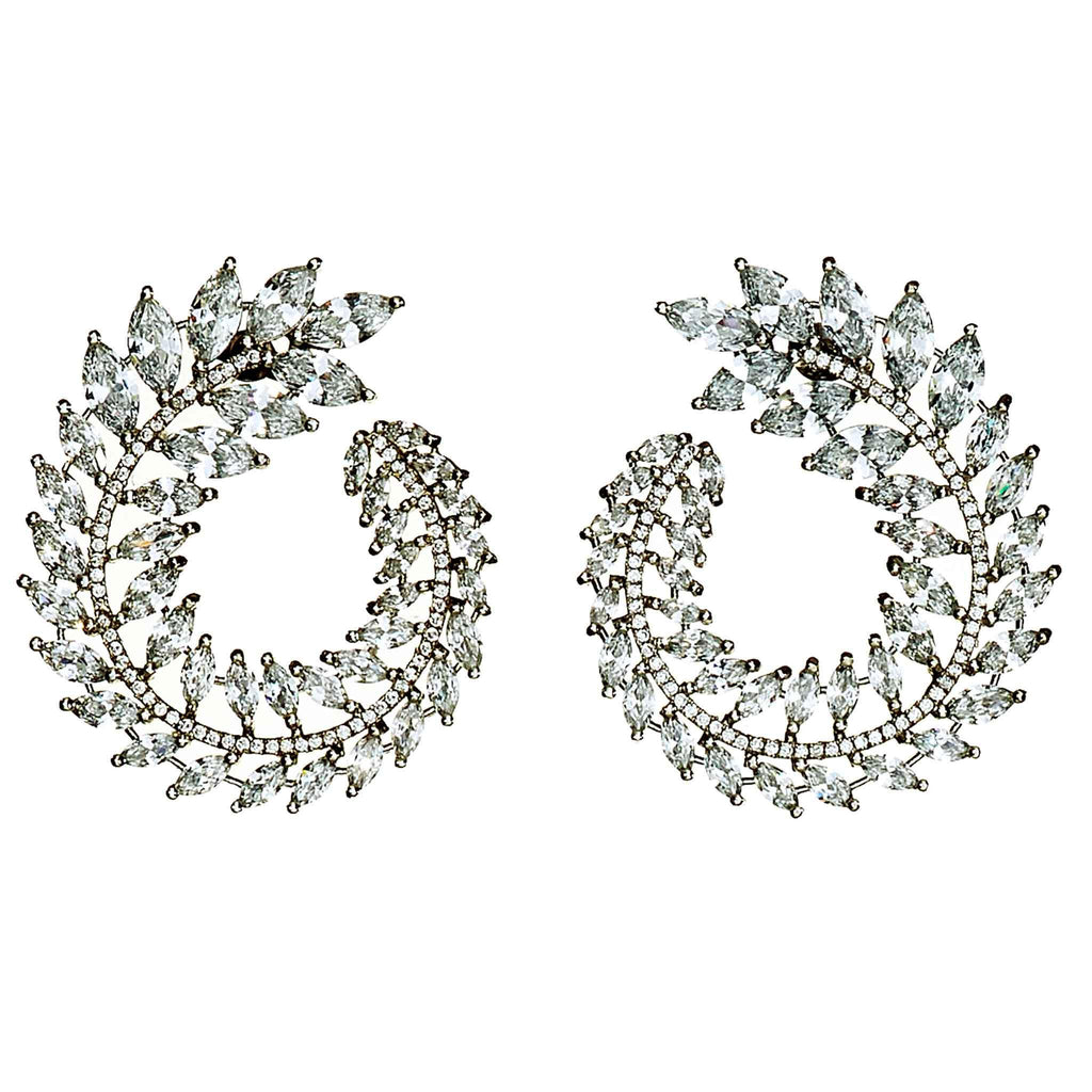 Adrianne Crystal front-to-back earrings