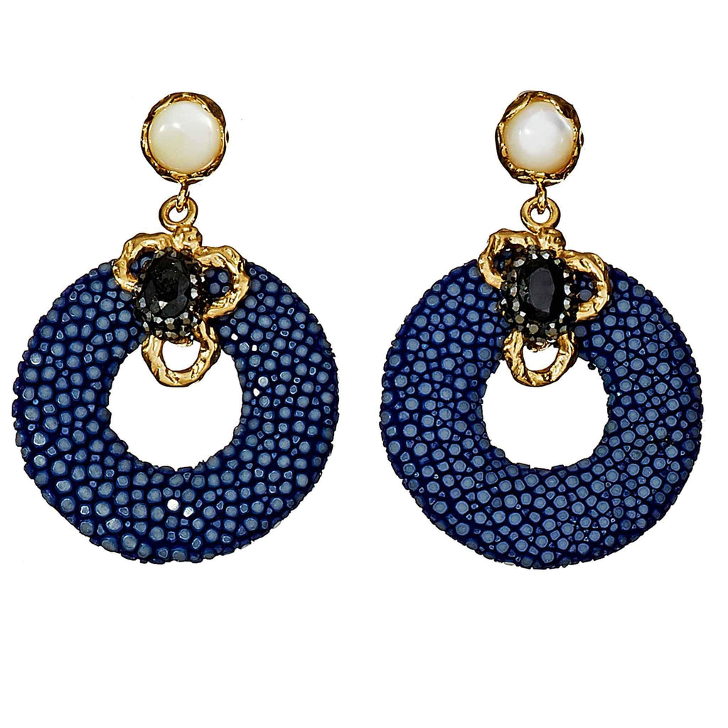 Chrissy Stingray Drop Earrings