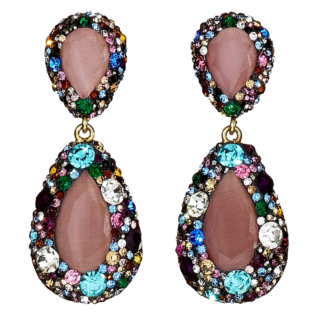 Myrna Jewel Drop Earrings