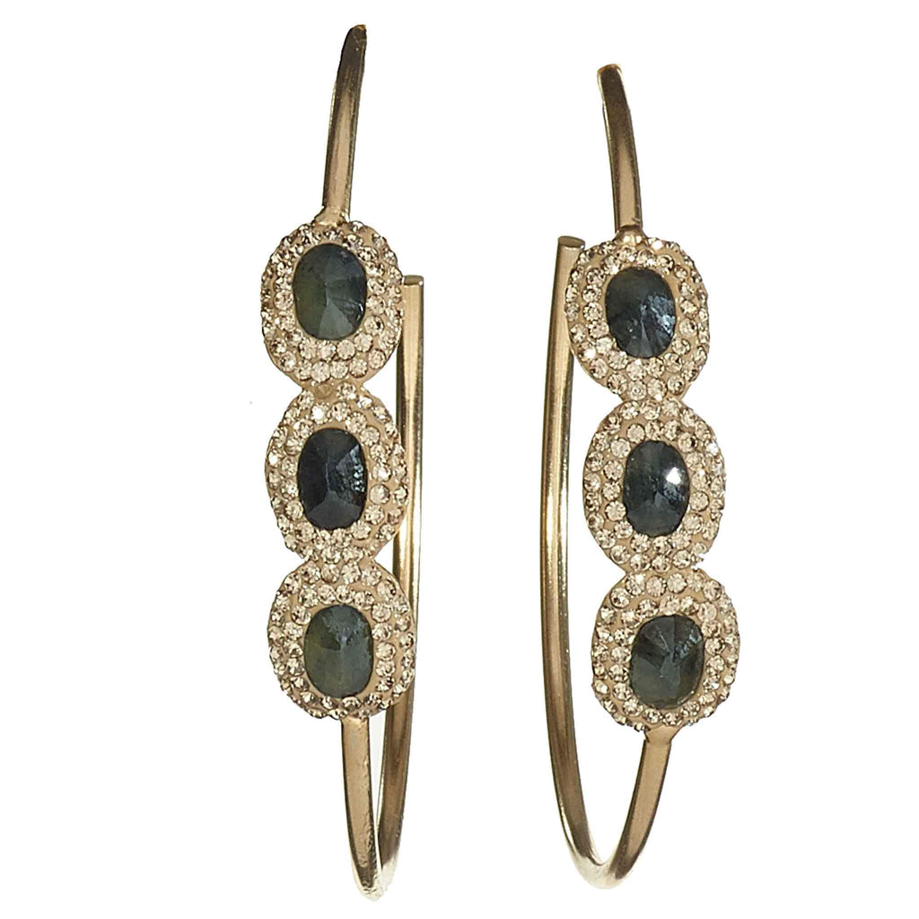 Helena Jeweled Hoop Earrings