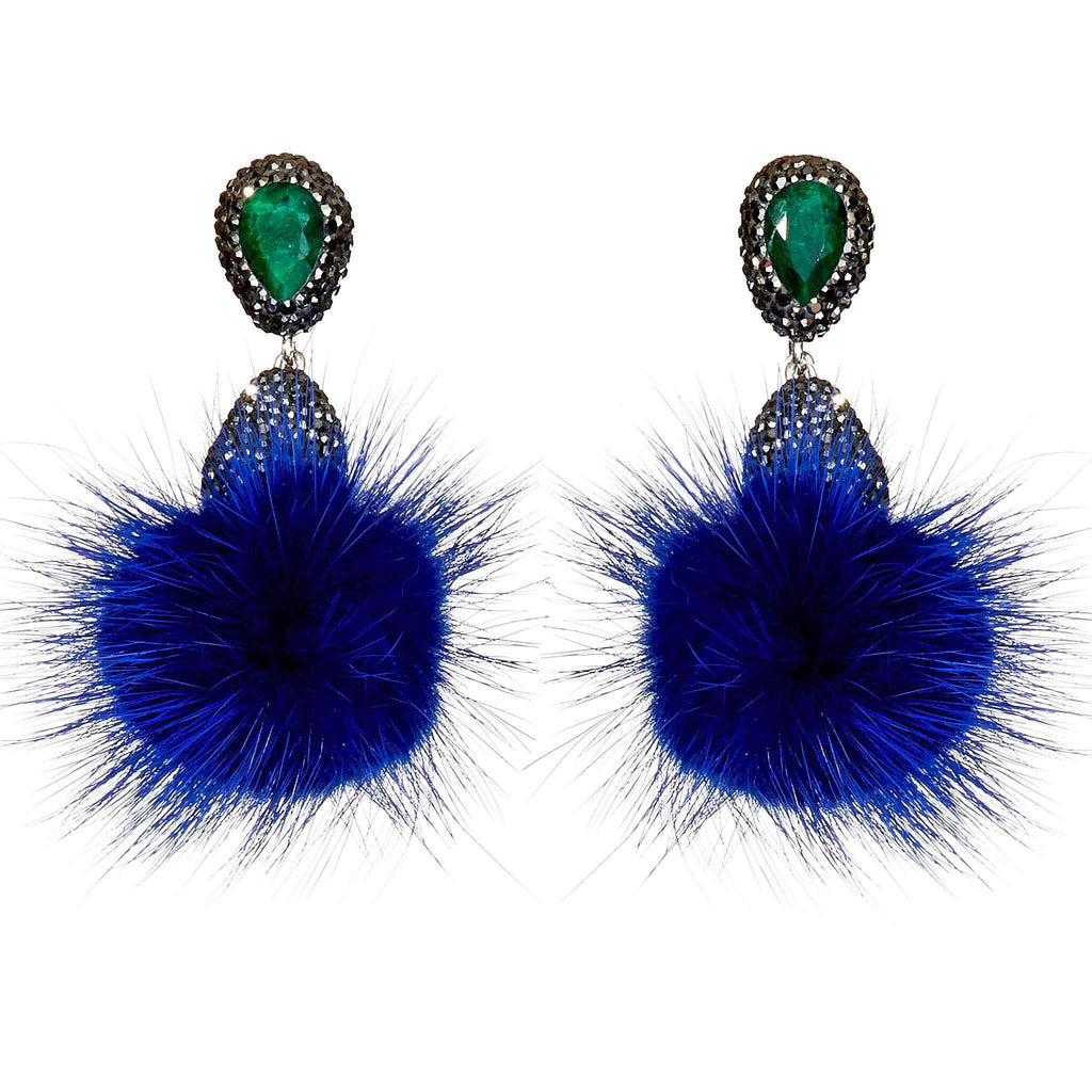 Jodie Faux Fur Drop Earrings