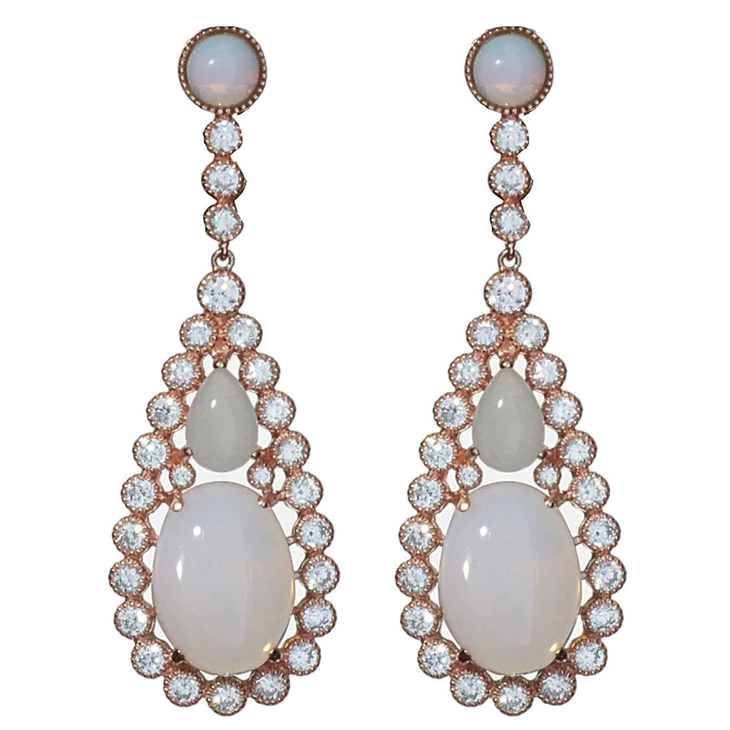 Arielle Rose Gold Drop Earrings