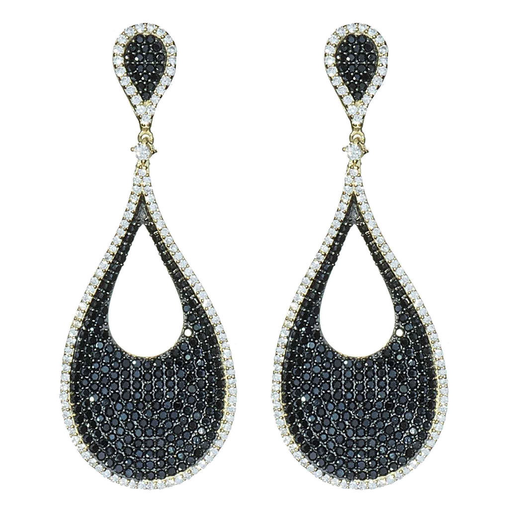 Amber Micro-Pave Drop Earrings