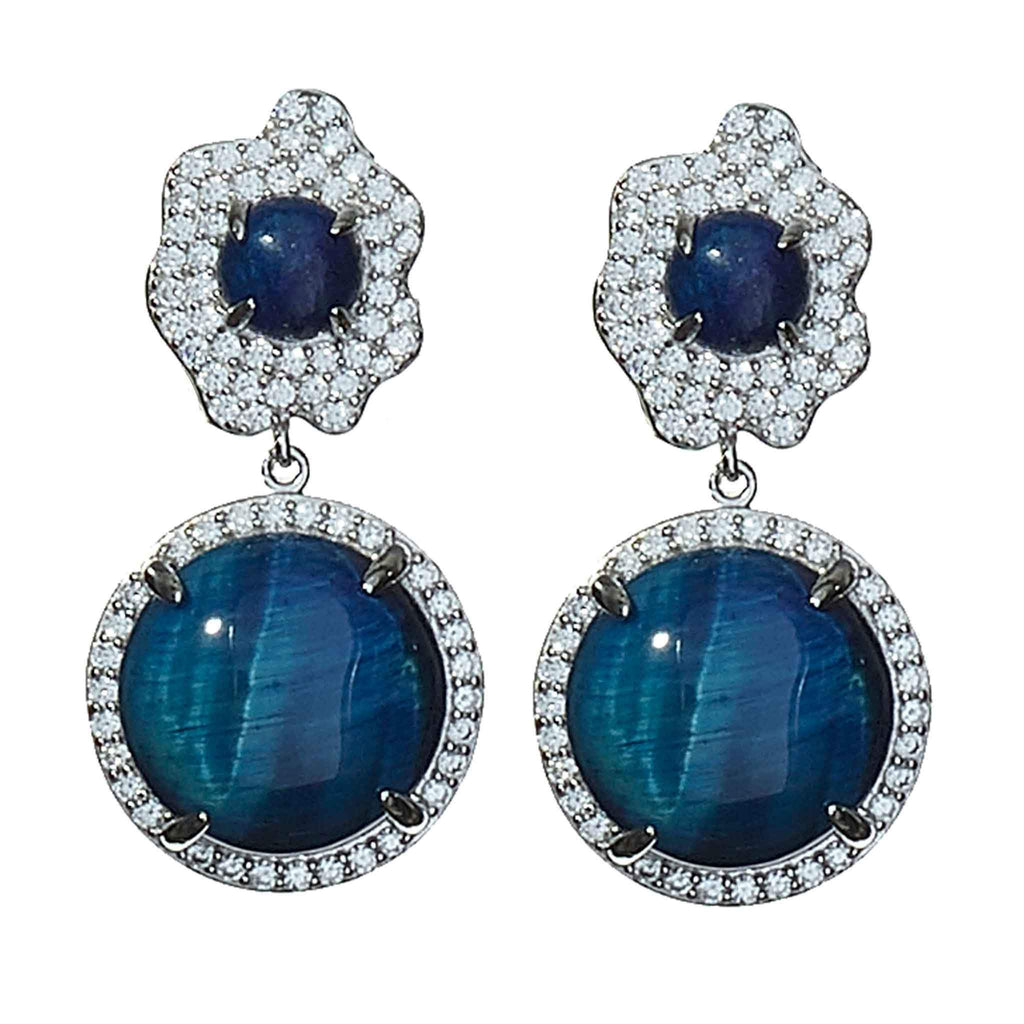 Barbara Lapis Drop Earrings