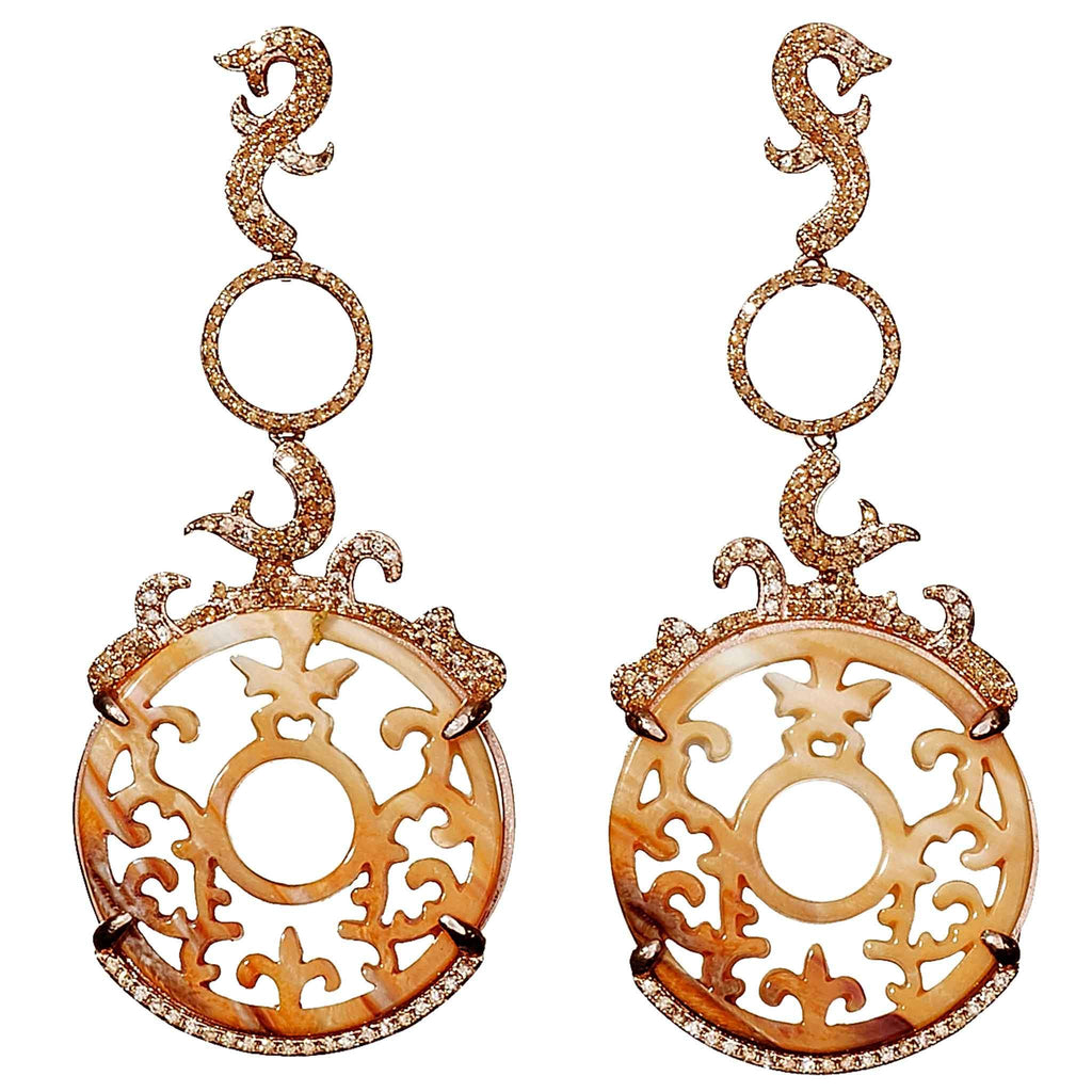 Lillian Shell Statement Earrings