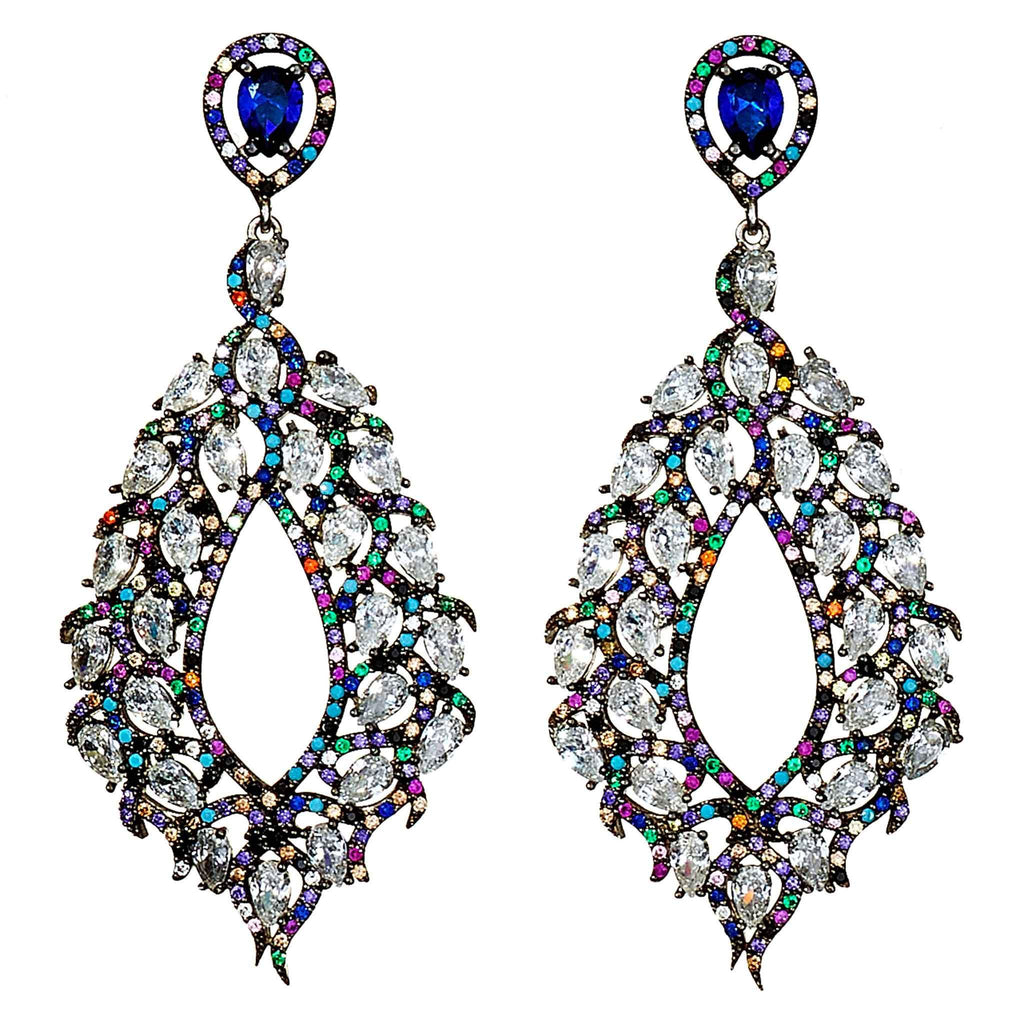 Dakota Multi-Hue Crystal  Earrings