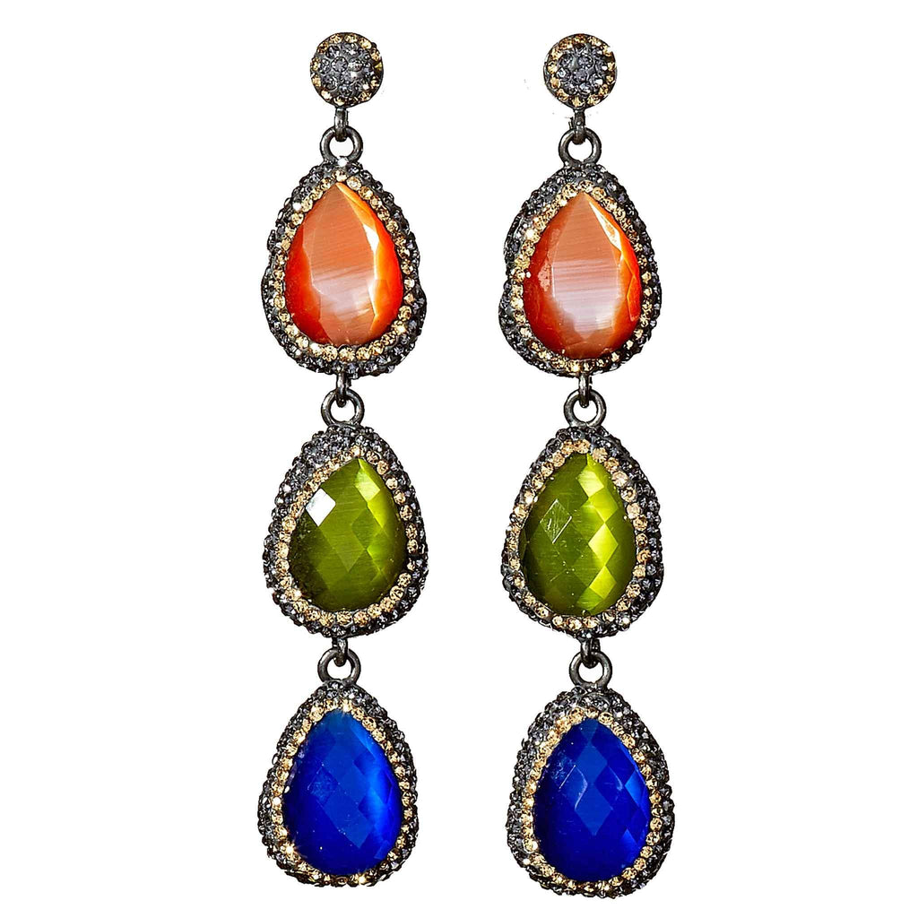Jessica Jewel Tone Earrings