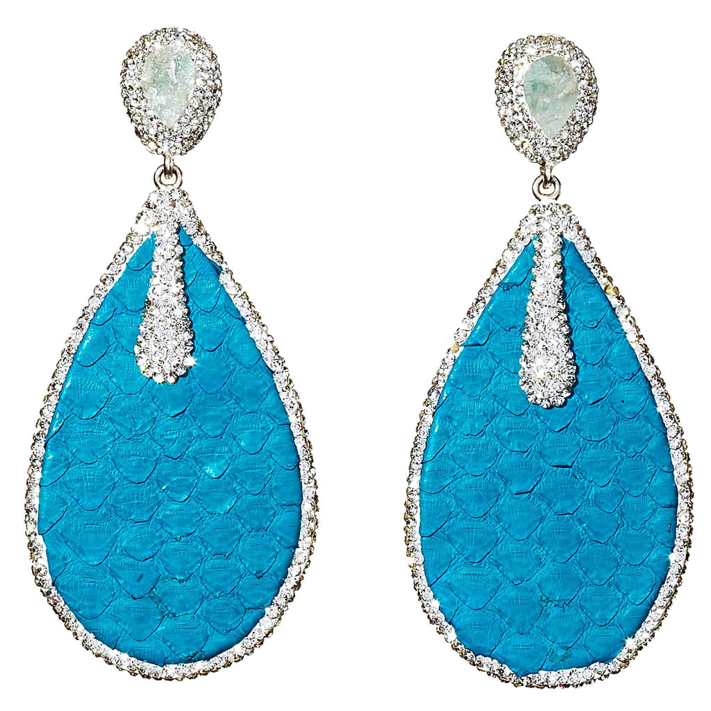 Lena Turquoise Statement Earrings