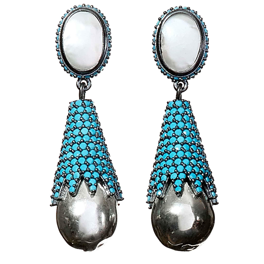 Marlene Turquoise Drop Earrings