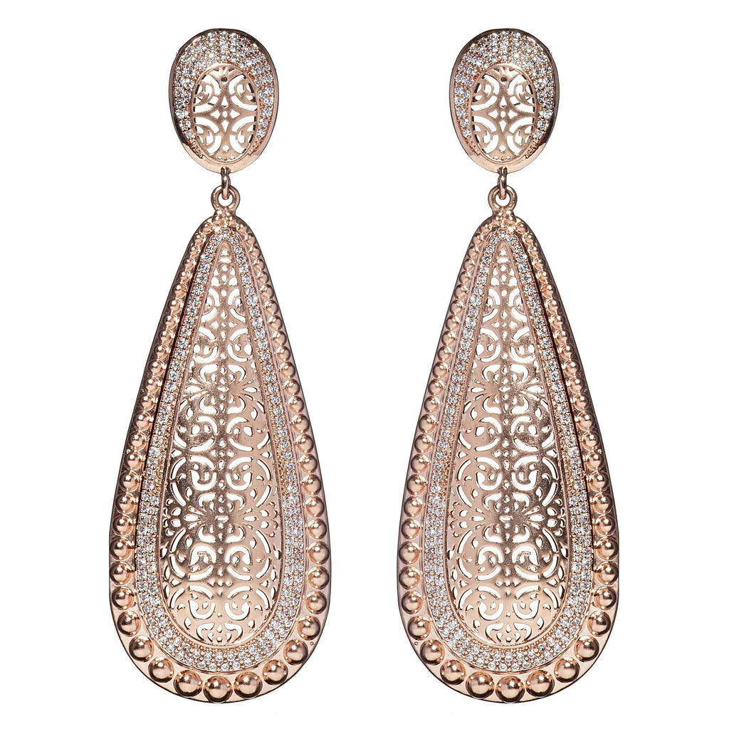 Celeste Rose Gold Statement Earrings