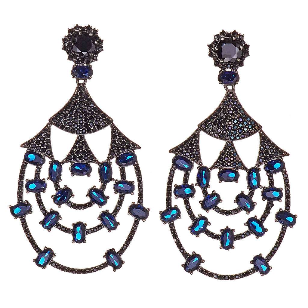 Talia Sapphire Drop Earrings