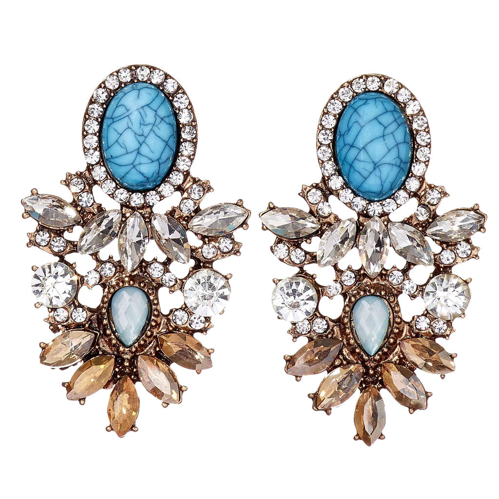 Connie Turquoise Statement Earrings