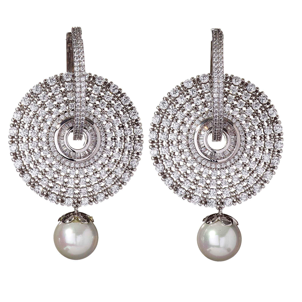 Trini Pearl Disc Earrings