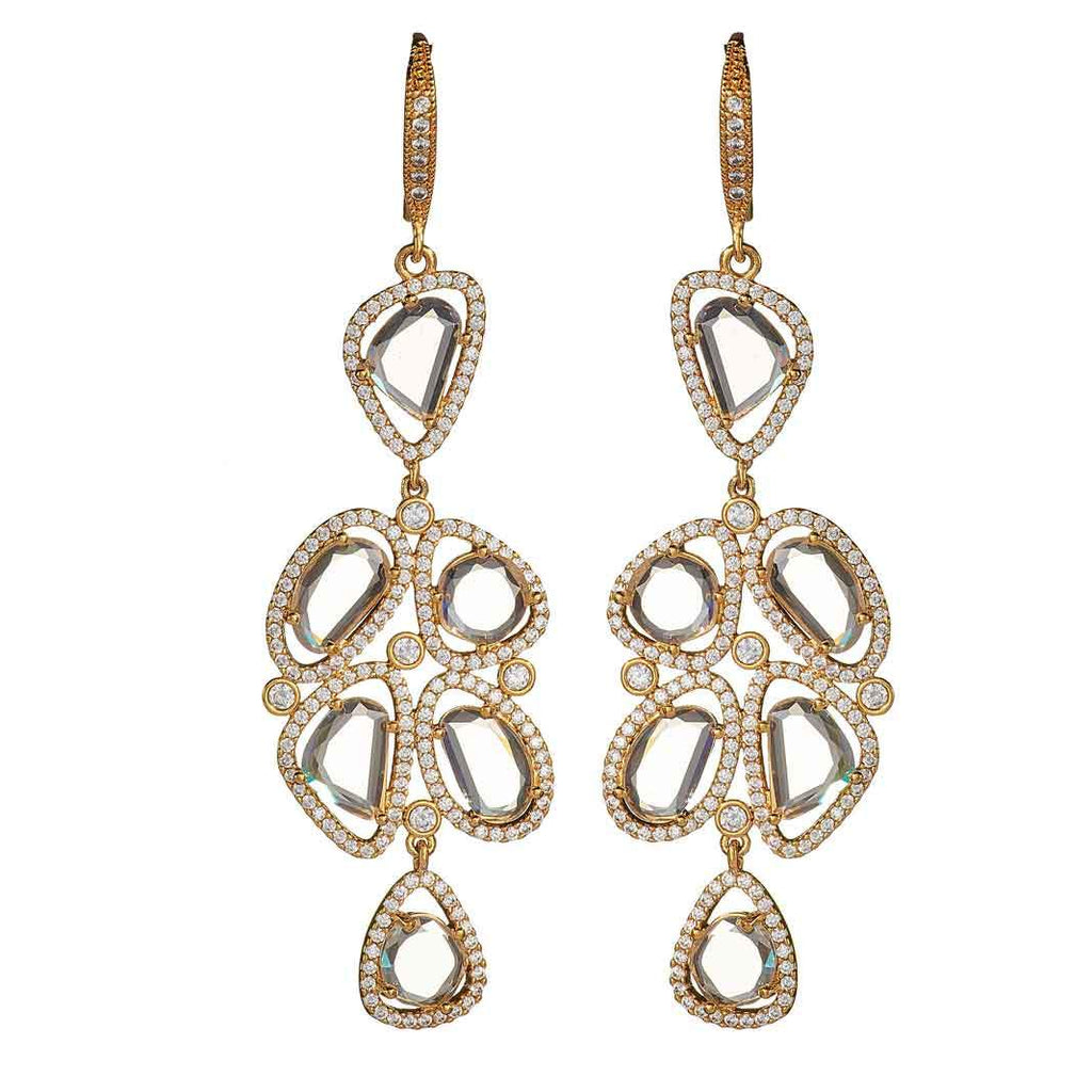 Flora Gold Drop Earrings