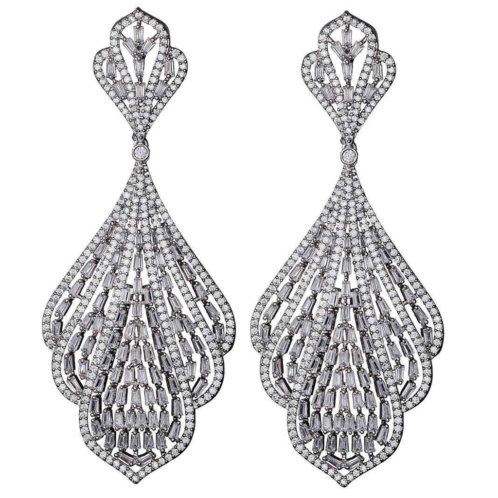 Gracie Crystal Chandelier Earrings