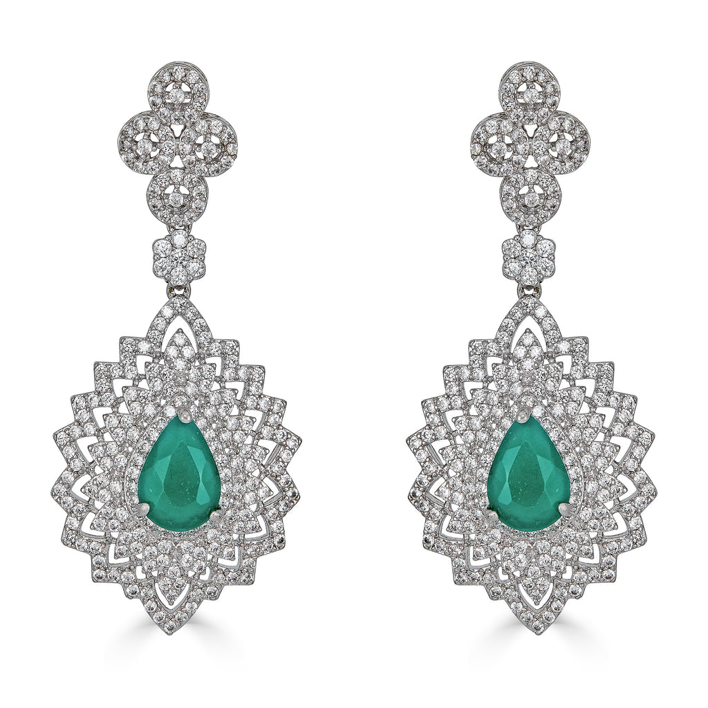 Kira Emerald Drop Earrings
