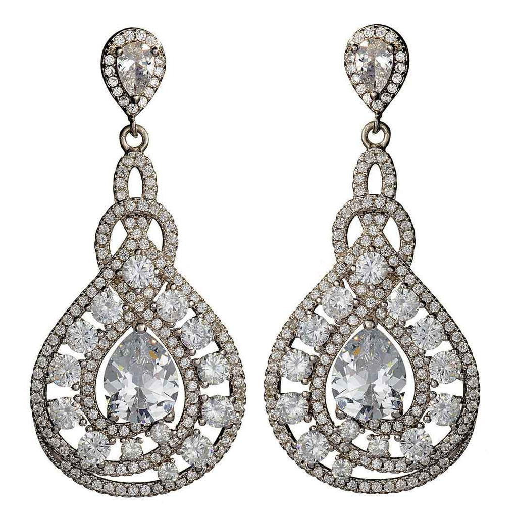 Giovanna Crystal Drop Earrings