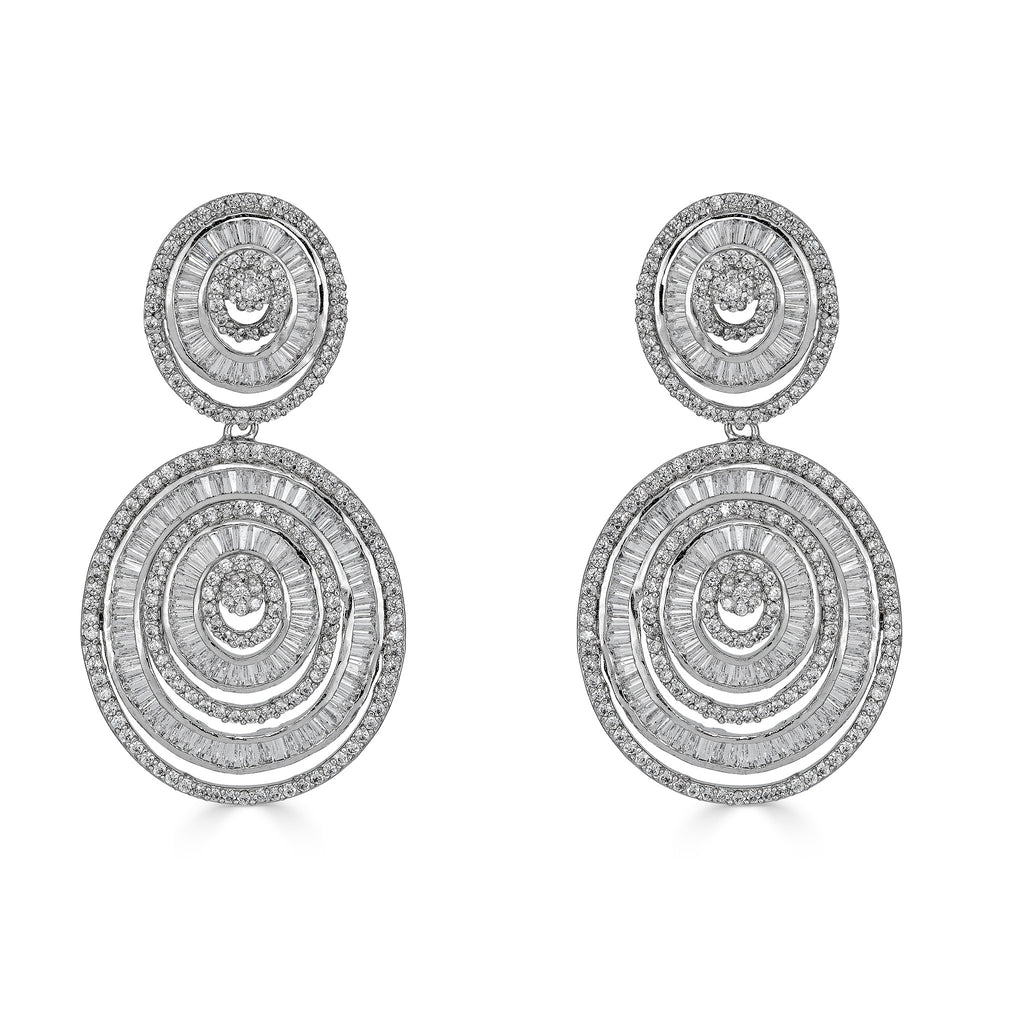 Zhuri Baguette Drop Earrings