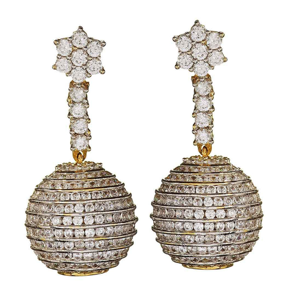 Ciel Disco Ball Drop Earrings