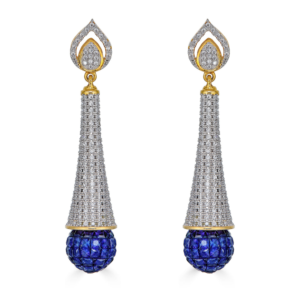 West Sapphire Drop Earrings