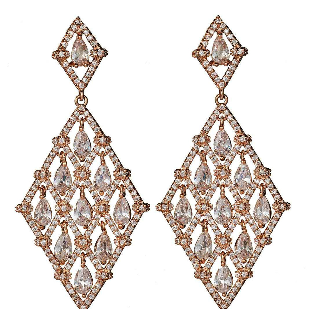 Clementine Rose Gold Drop Earrings