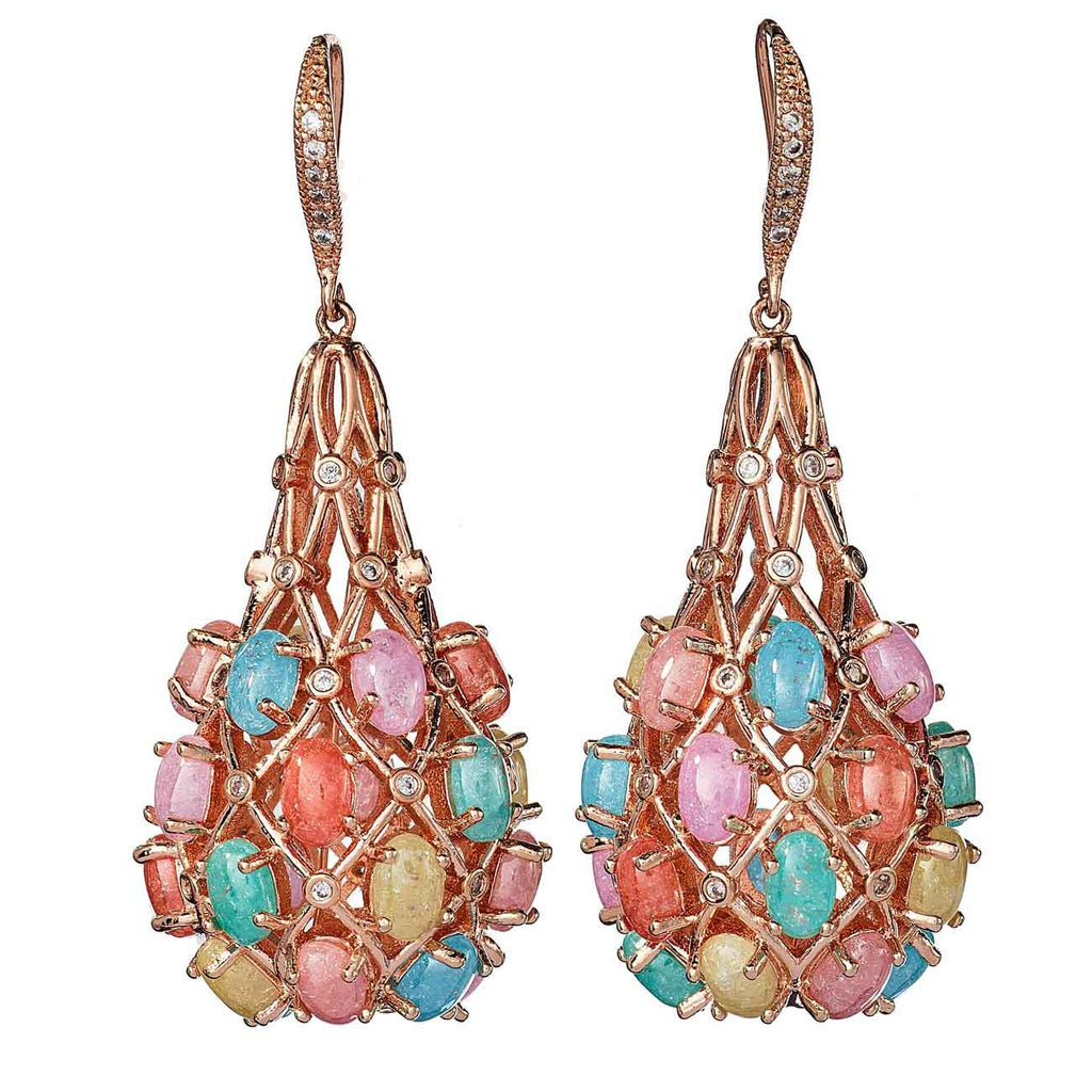 Pastel multi-color drop earrings