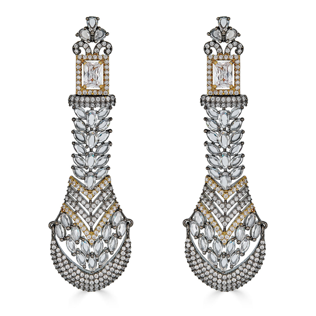 Deepika Two-Tone Statement Earrings