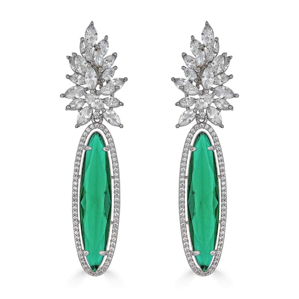Cyia Emerald Drop Earrings