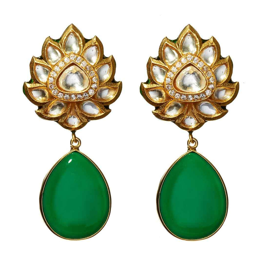Yancy Emerald Drop Earrings