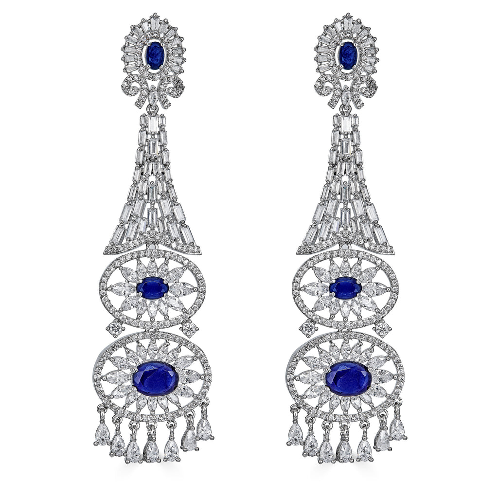 Faune Sapphire Statement Earrings