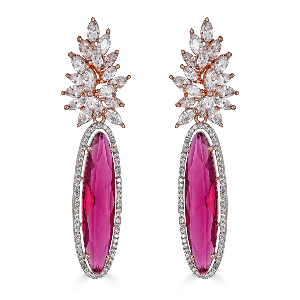 Lizzy Fuchsia Drop Earrings