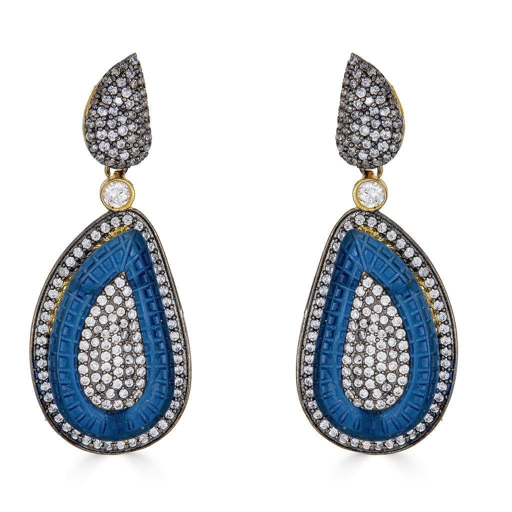 Tyne Sapphire Drop Earrings