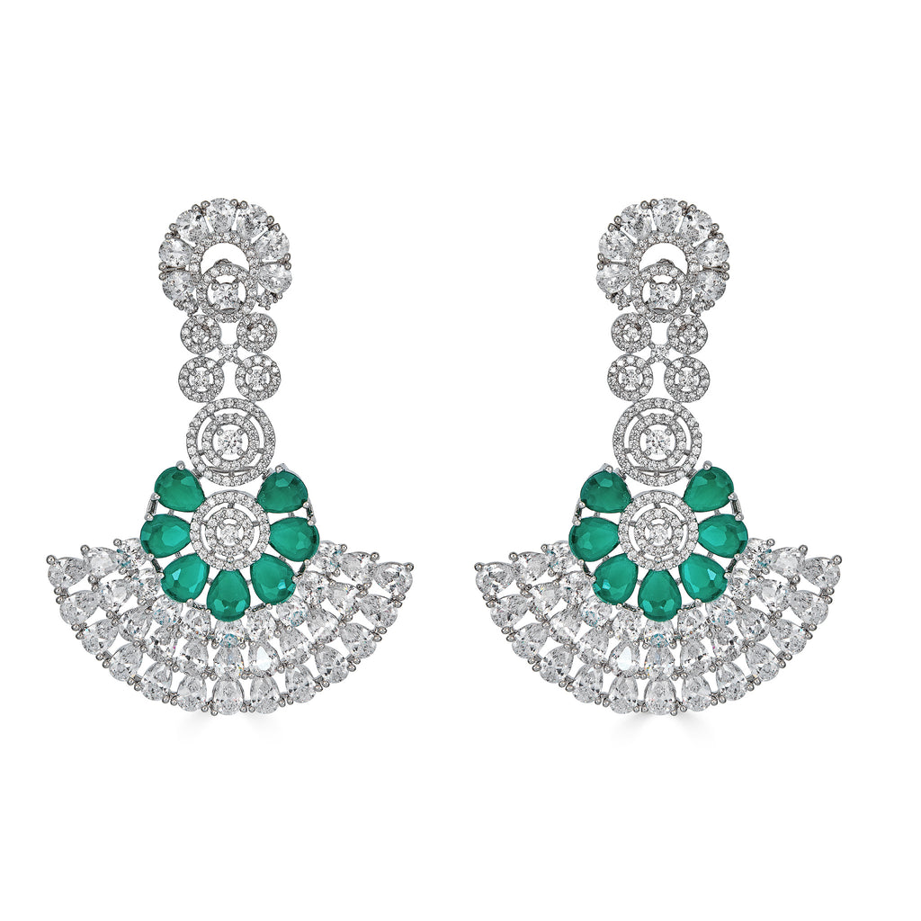 Shera Emerald Statement Earrings
