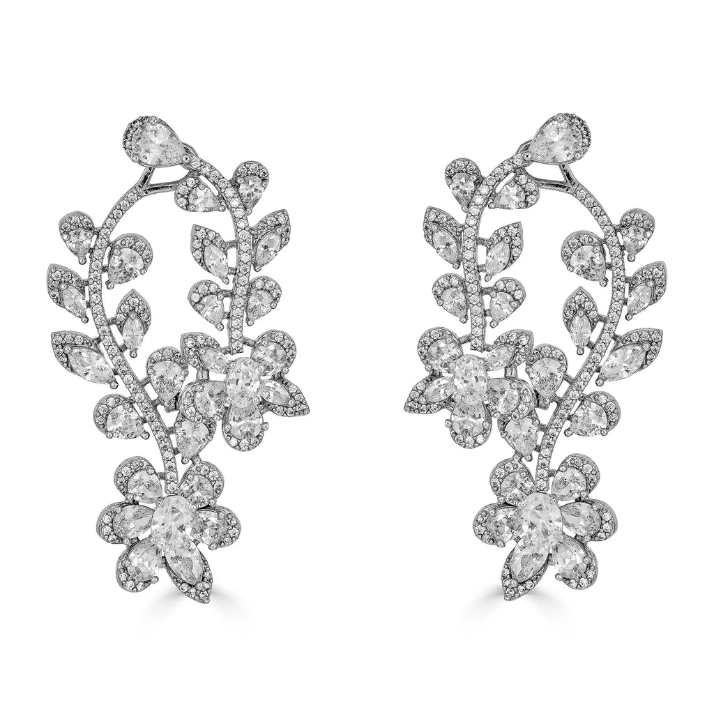 Janina Crystal Drop Earrings