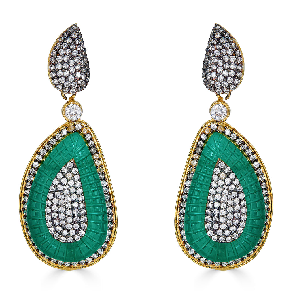 Lecy Emerald Drop Earrings