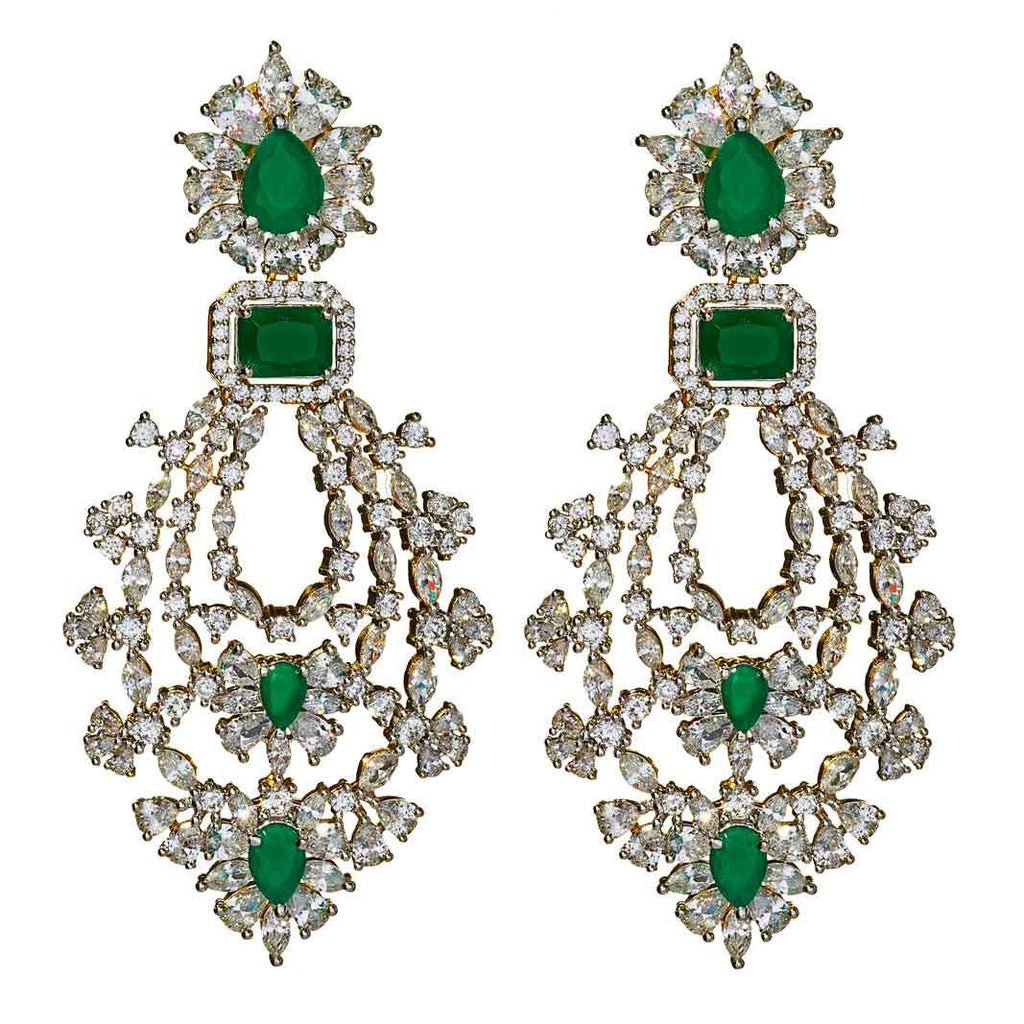 Marg Emerald Statement Earrings