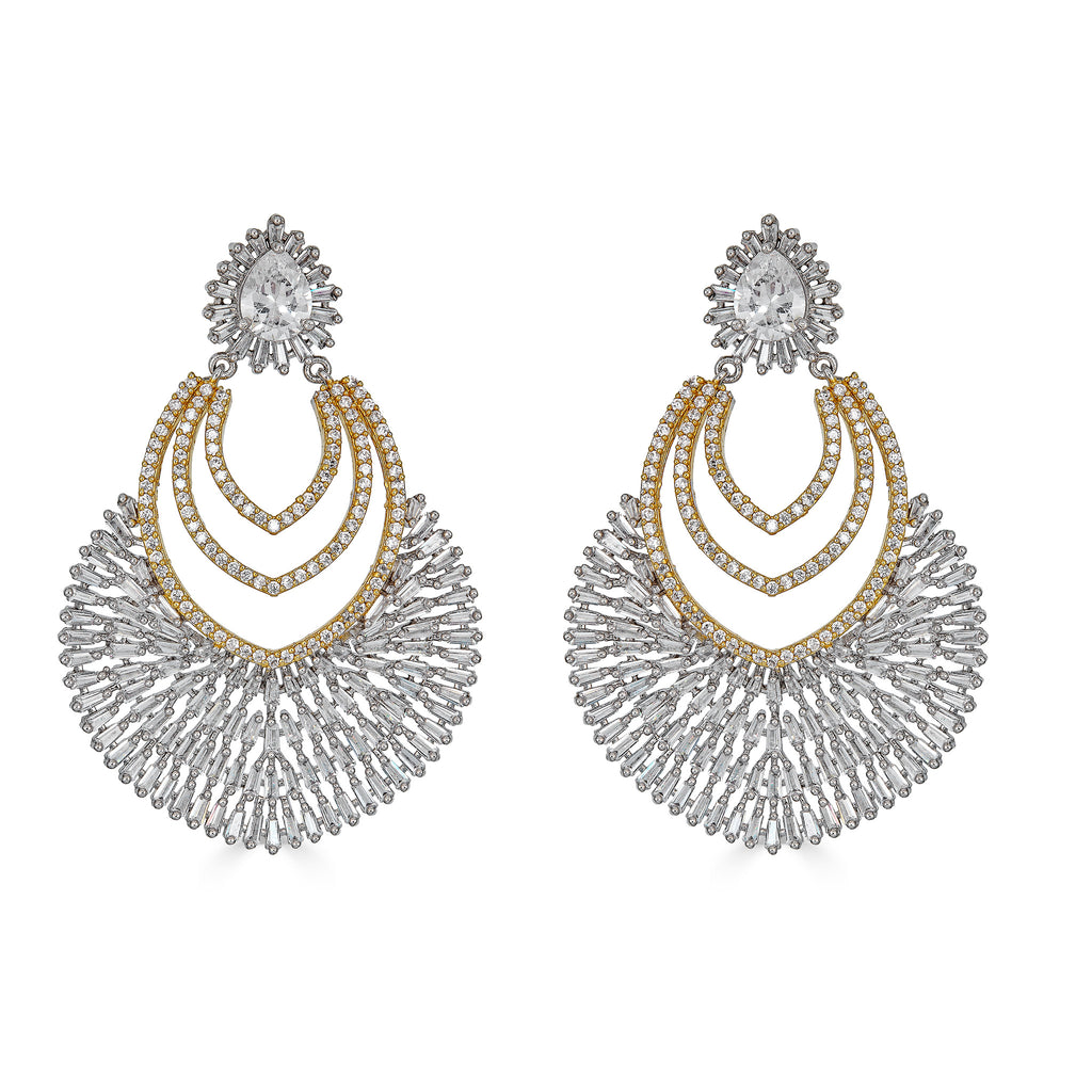 Doreen Two-Tone Drop Earrings