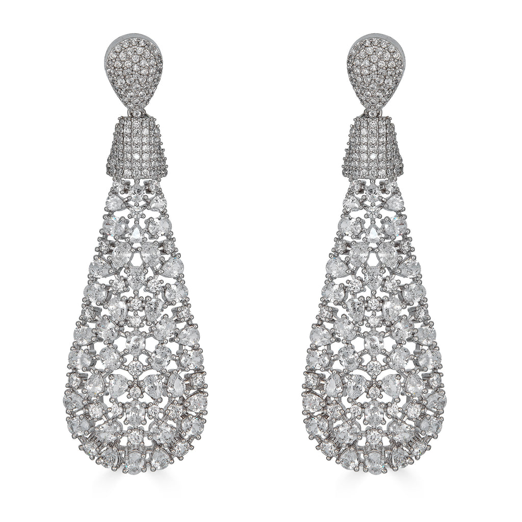 Amelia Crystal Drop Earrings