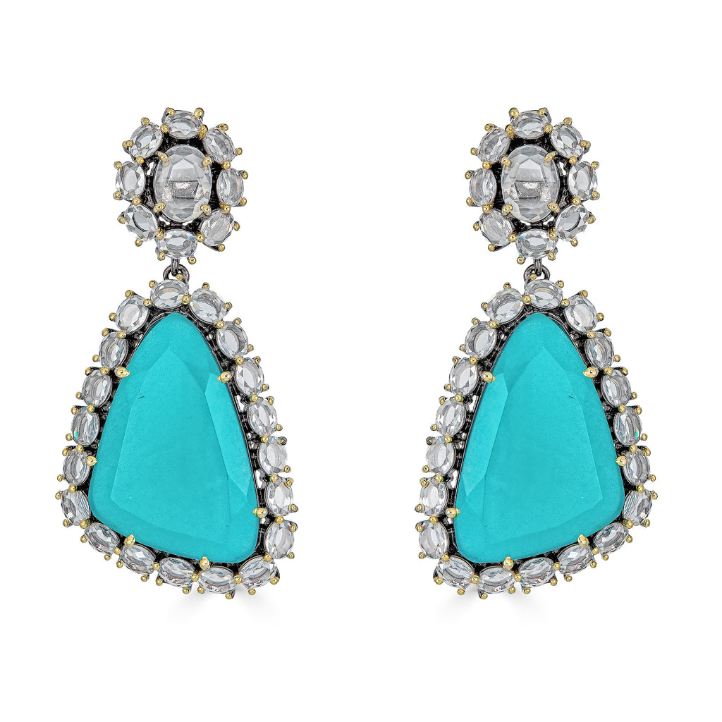 Morgan Turquoise Drop Earrings
