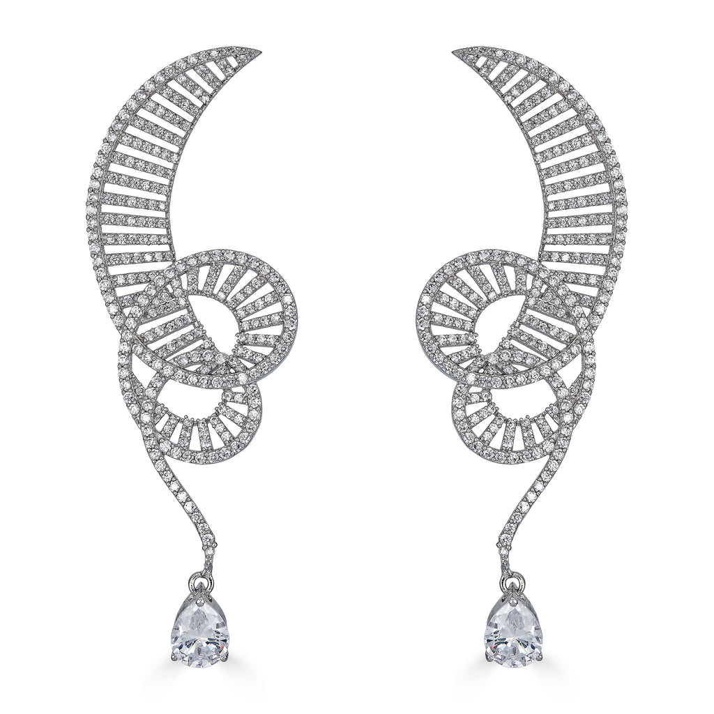 Kimberly Coil Drop Earrings