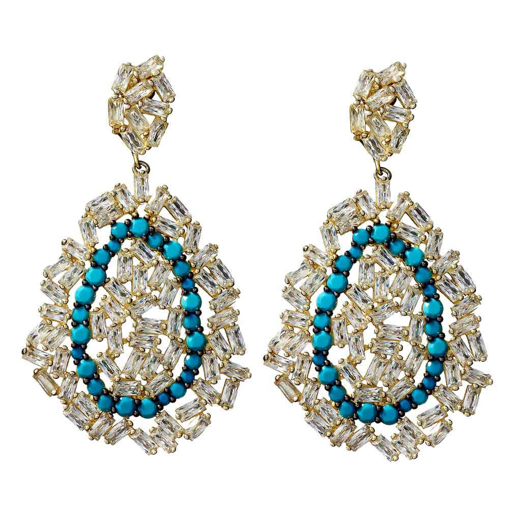 Evelyn Turquoise Statement Earrings