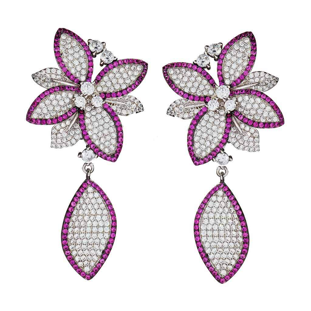 Aurora Floral Drop Earrings