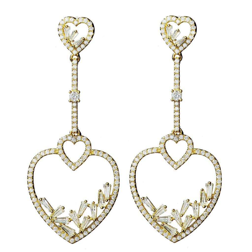Caroline Gold Drop Earrings