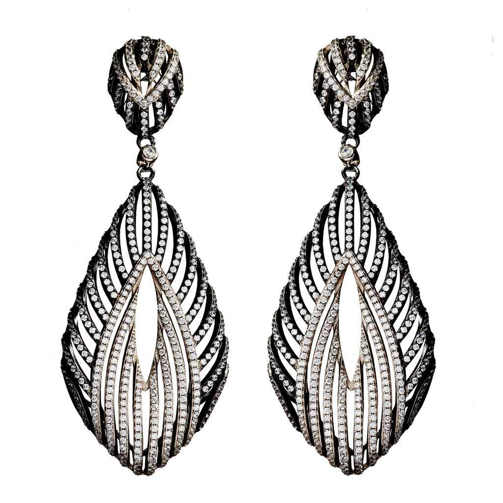 Cora Two-Tone Drop Earrings