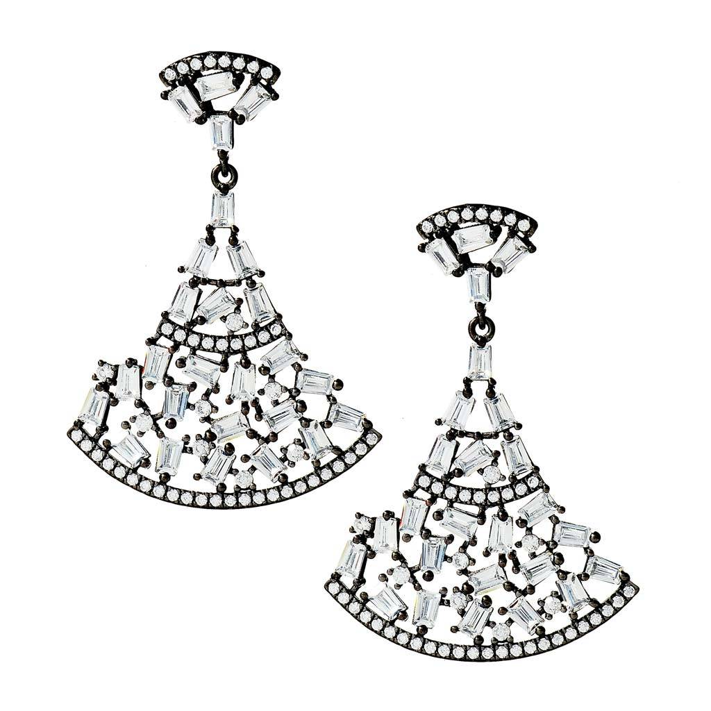 Aubree Art-Deco Drop Earrings