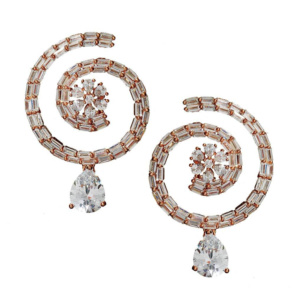 Eliana Baguette Drop Earrings