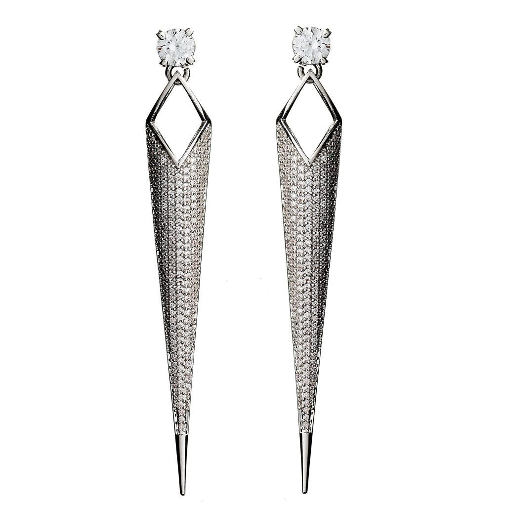 Peyton Crystal Dagger Earrings