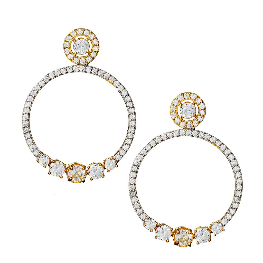 Natalia Two-Tone Hoop Earrings