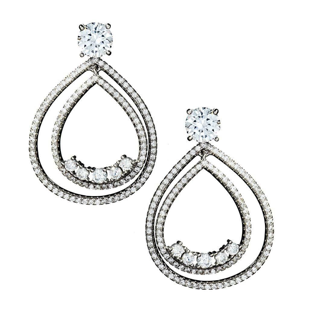 Annabelle Double Teardrop Earrings
