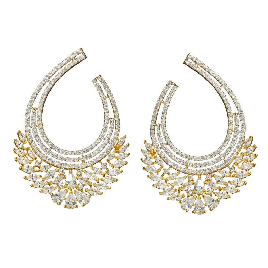 Anya Gold Front-to-back Earrings